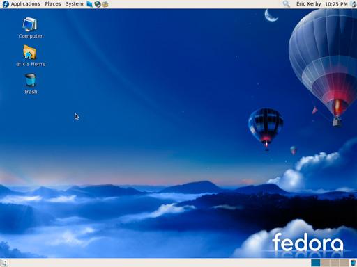 My Fedora 7 desktop