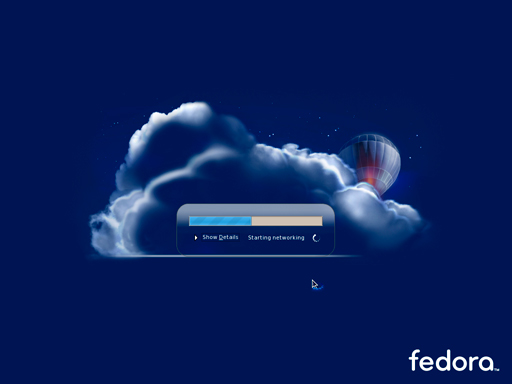 Fedora 7's loading screen